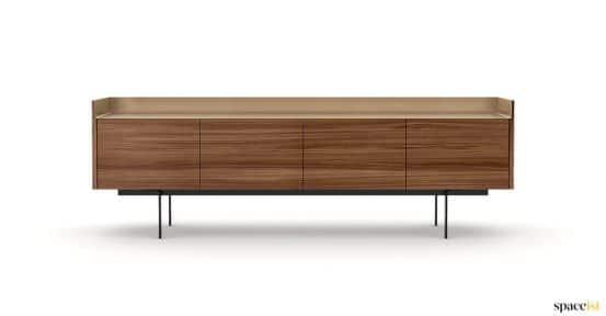 Wood bronze meeting cabinet