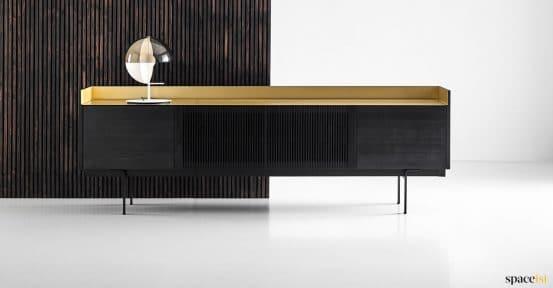 dark oak + metal cabinet