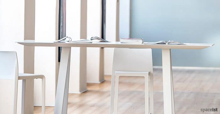 Ark high white meeting table