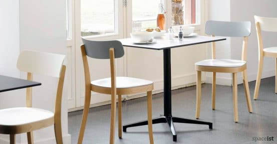 spaceist basel white oak cafe chair