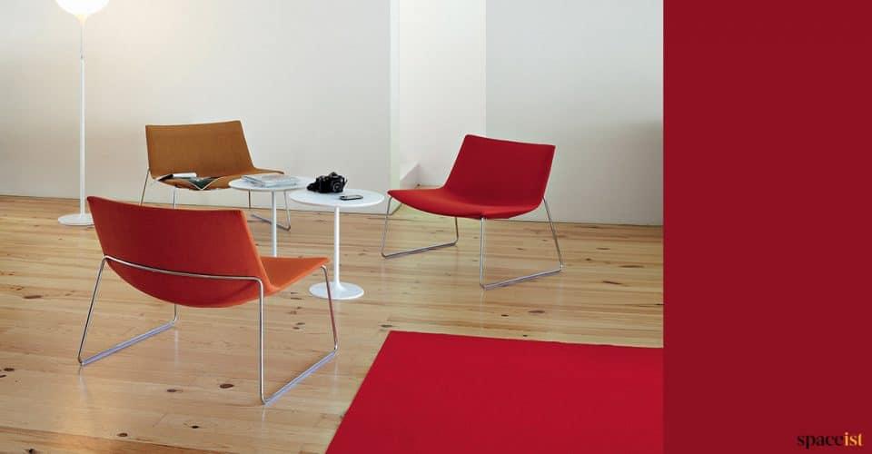 Red + orange reception chair