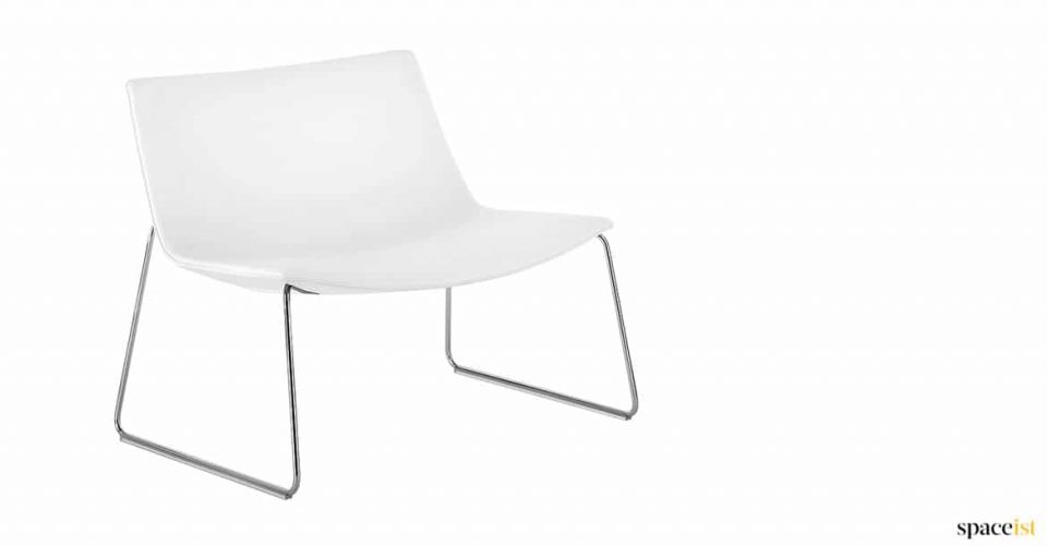 White leather reception chair