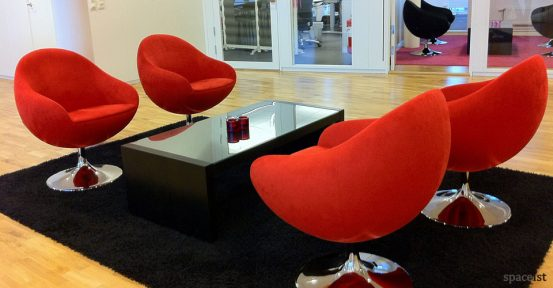 comet red tub chairs