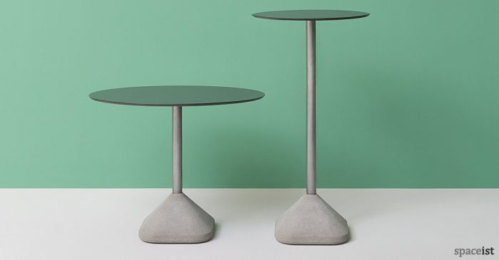 Concrete cafe table high and low version