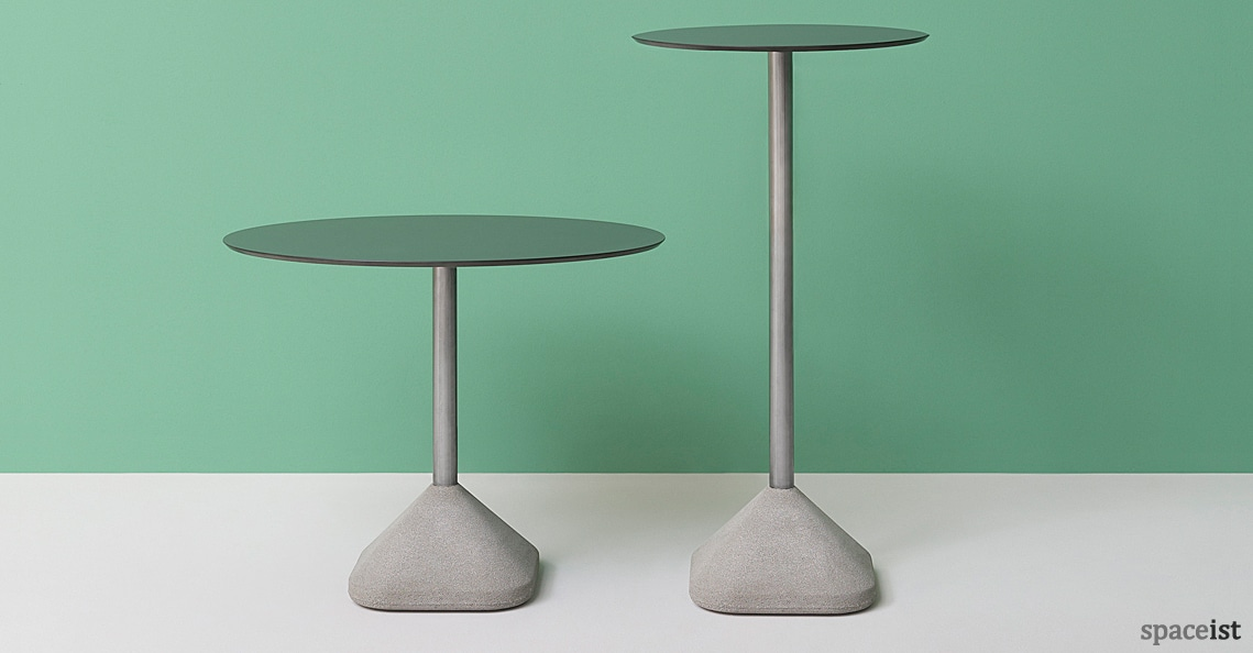 spaceist concrete high low cafe table