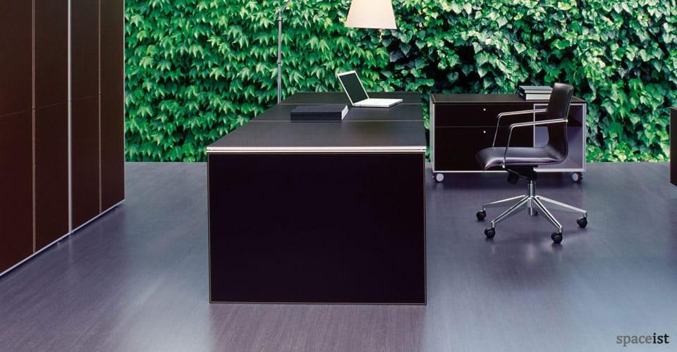 corium leather exeutive desks end view