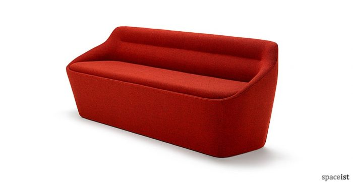 Ezy designer reception sofa in red
