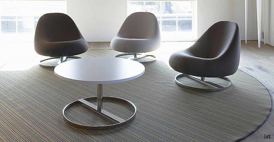 spaceist flow spoon shaped library chairs