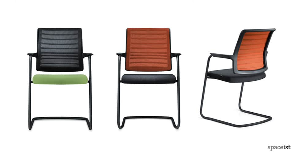 spaceist hero orange cantilever chairs