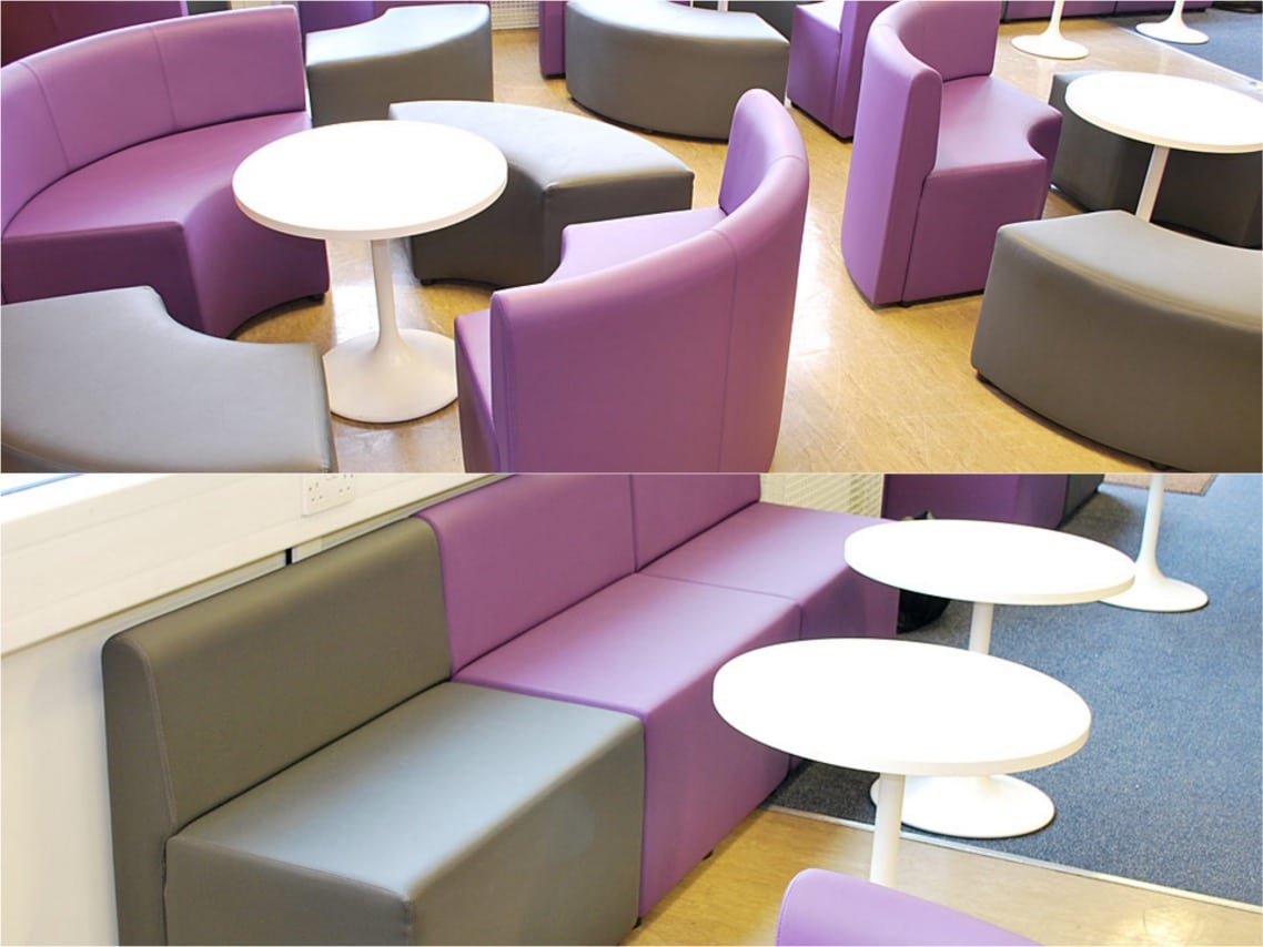 spaceist houndslow youth centre purple round seats