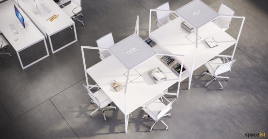 High desk in white