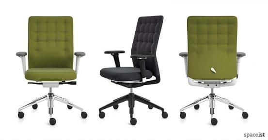 id green adjustable task chairs