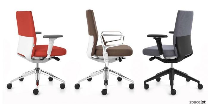 id soft red task chairs