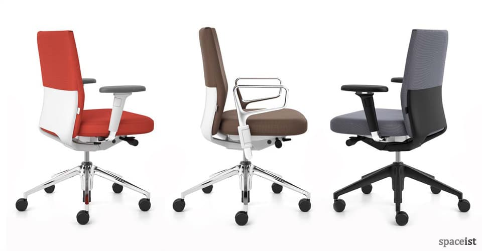 spaceist id soft red task chairs