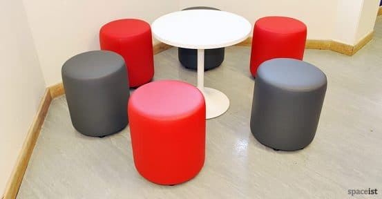 immanuel college round red stools