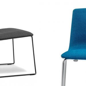 Inga blue and black reception chair