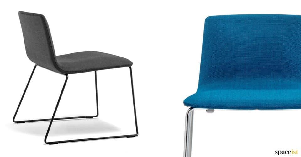 Inga blue and black reception chair