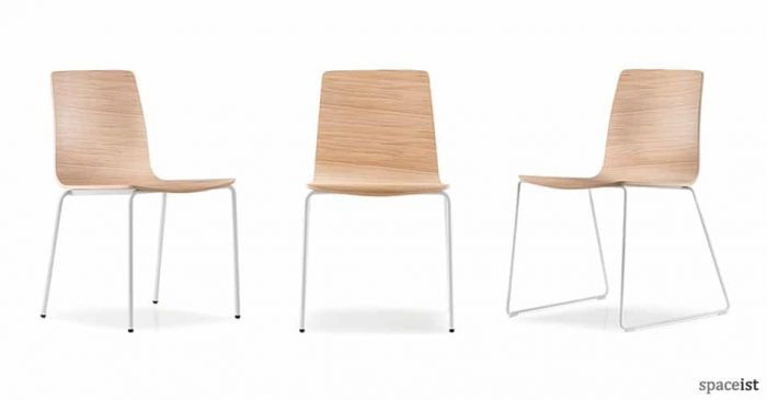 spaceist inga oak white cafe chair76