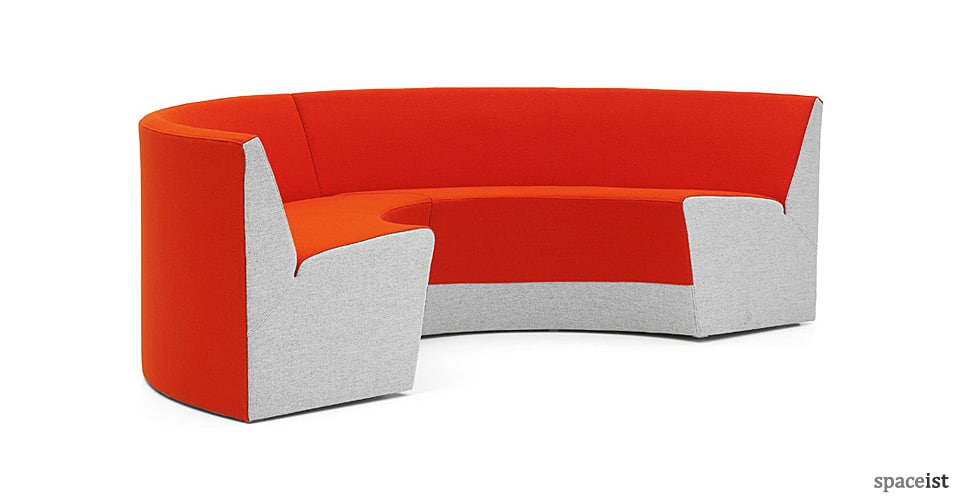 spaceist king red circular reception sofa 2