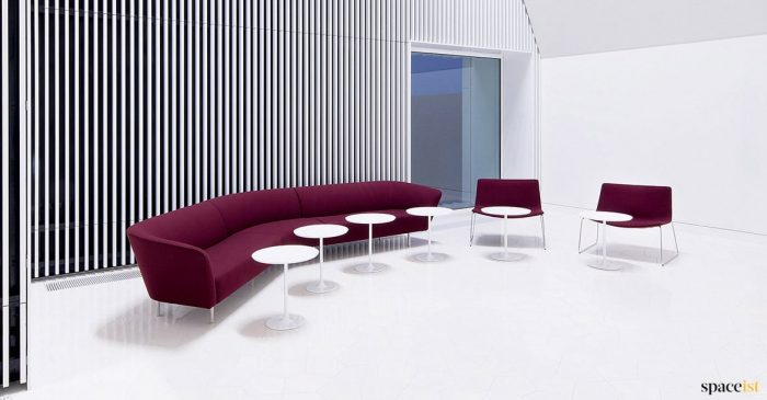 Purple curved modern sofa sixe person