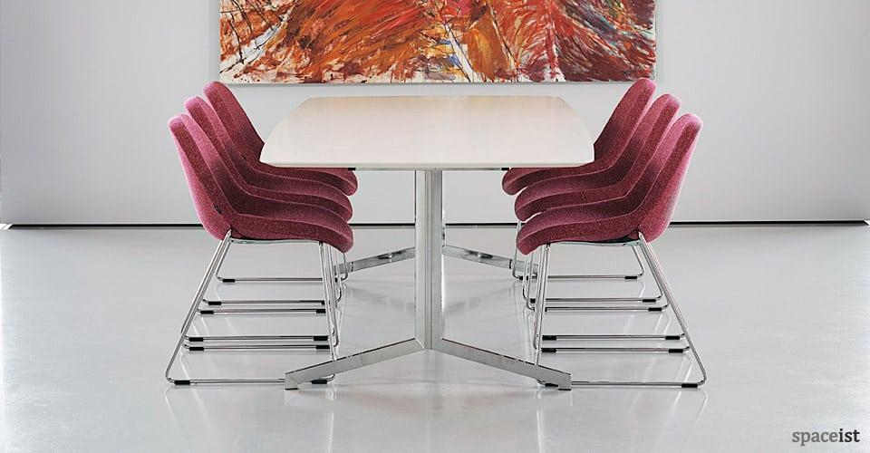 spaceist madison white chrome meeting table23