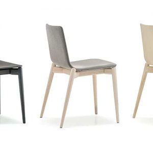 Malmo ash wood cafe chair in black and grey