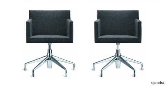 masai dark grey fabric office chairs