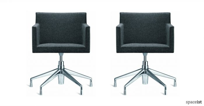 masai dark grey fabric office chairs