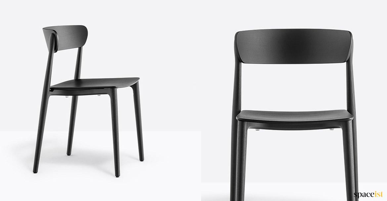 Spaceist Nemea Black Wood Chair