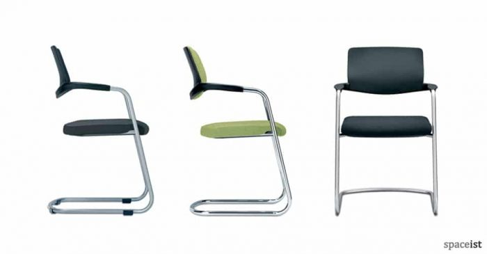 nimbos cantilever green chairs