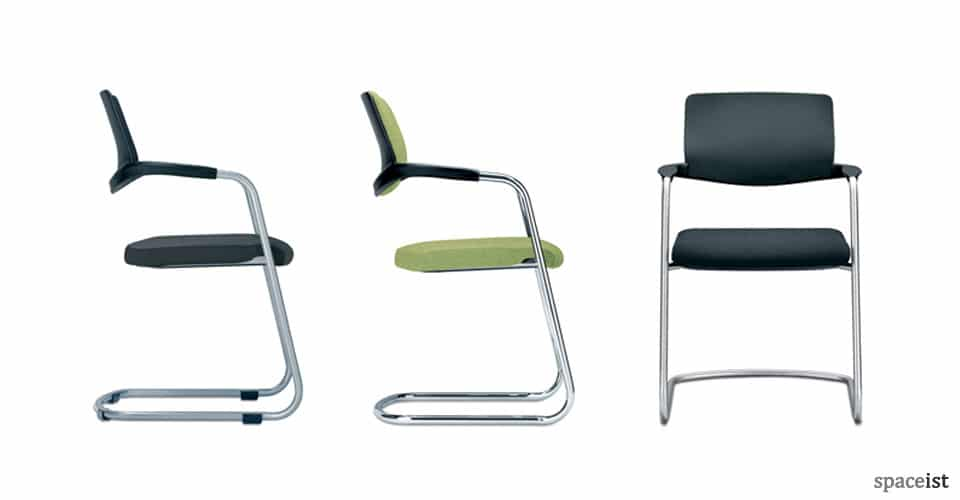 spaceist nimbos cantilever green chairs