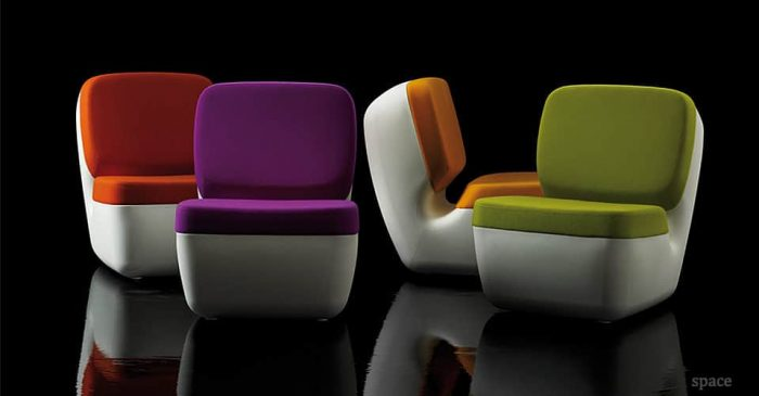nimrod red purple orange green retro chairs
