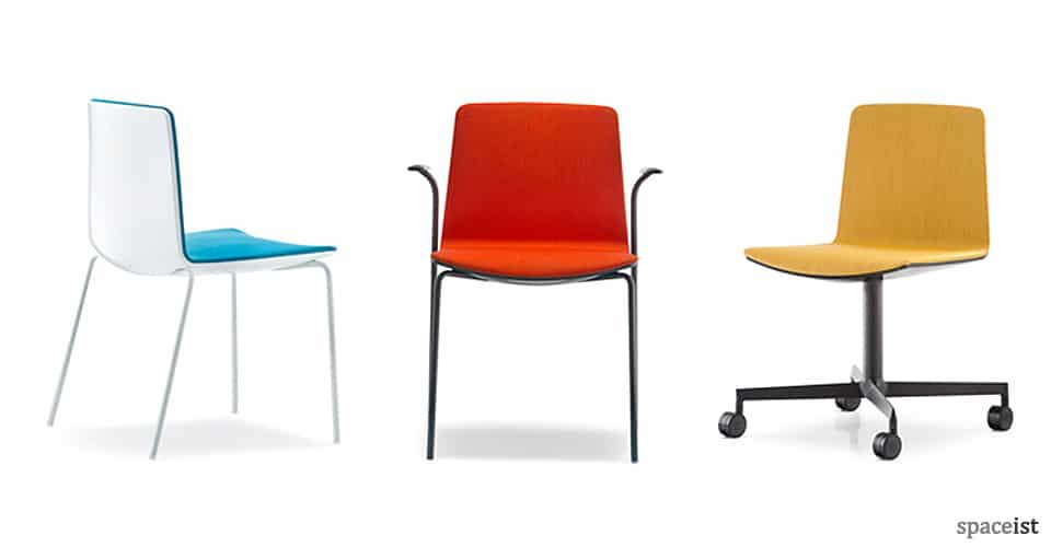 spaceist noa red blue yellow meeting chair