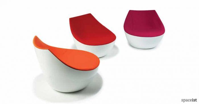 orbital red fabric chairs