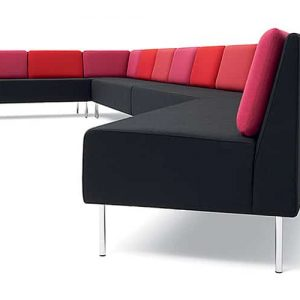 Play red and pink office sofa