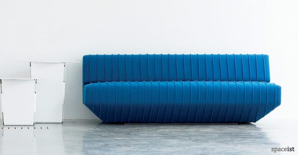 spaceist pleats blue designer sofa