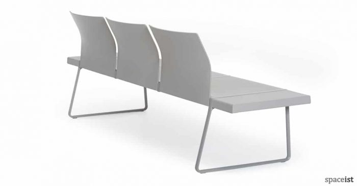 spaceist plural grey back bench seating