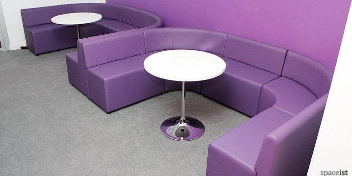 spaceist purple cubes U shape booth
