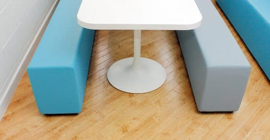 soft bench blue grey vinyl canteen table and benches