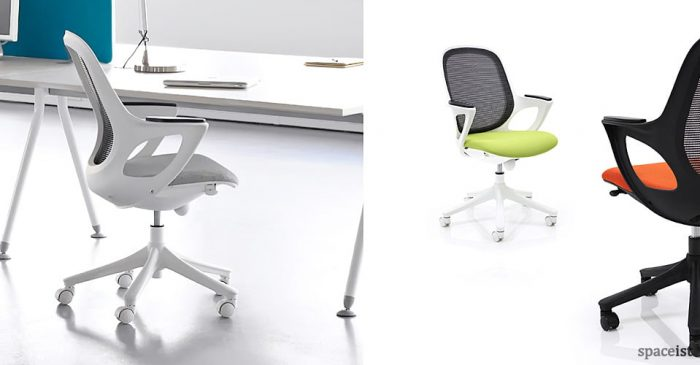 Salt and pepper egg shaped office chair