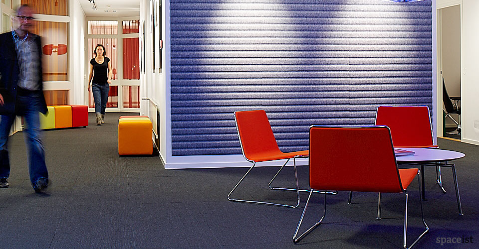 spaceist speed orange fabric reception chairs