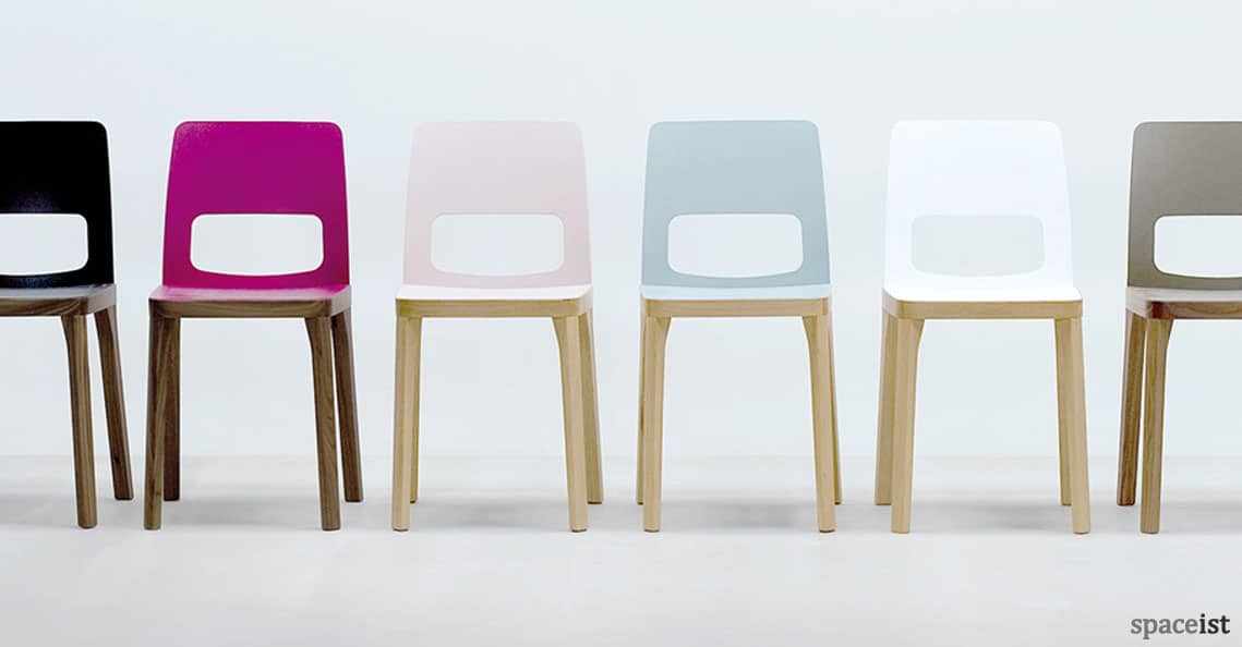 spaceist st6n colourful wood cafe chair 1