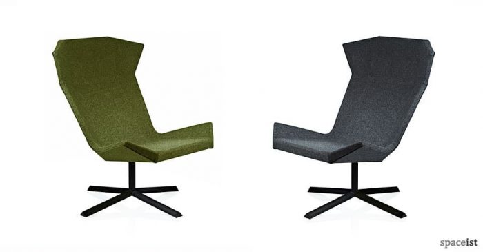 stealth angular green reception chairs