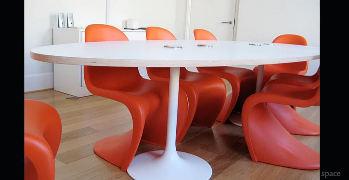 spaceist trumpet white oval meeting room tables blogpost space city