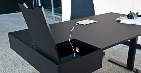 spaceist u desk black standing desk adapter drawer