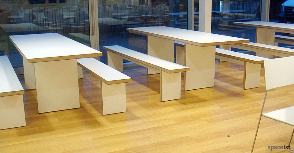 spaceist uni bournemouth white canteen table
