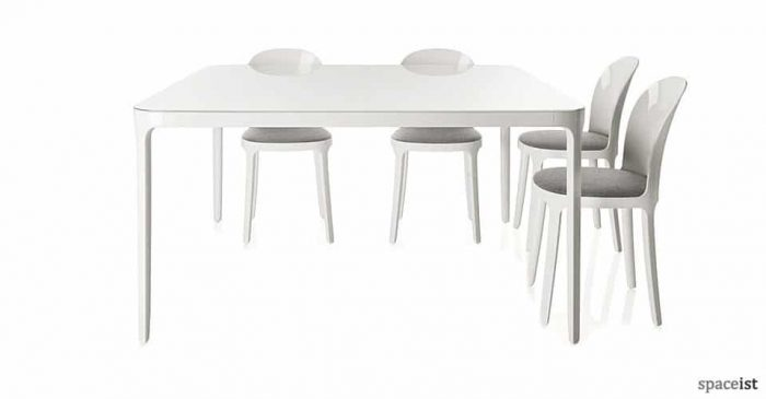 vanity white cafe tables