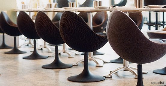 venus black tub chairs