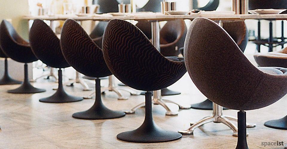 spaceist venus black tub chairs