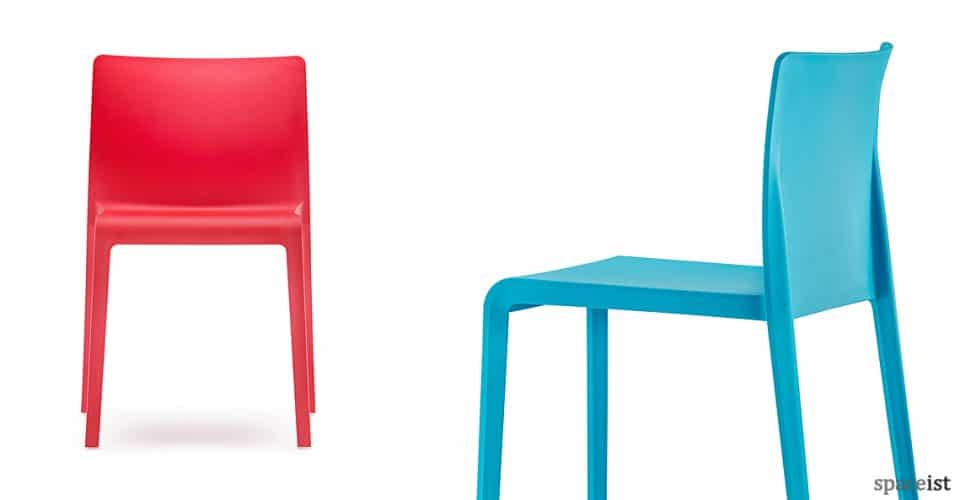 Volt red + blue cafe chair